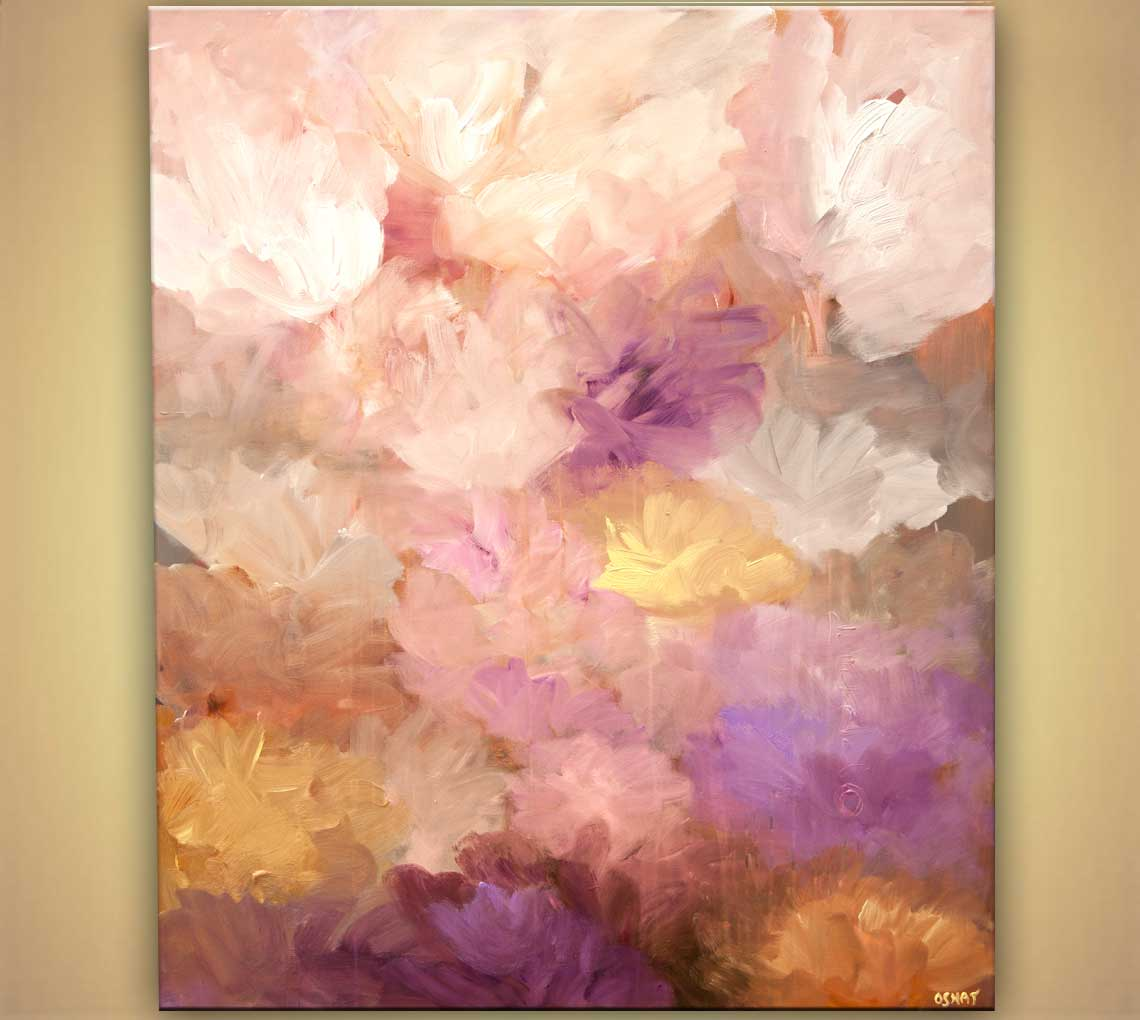 landscape painting - modern love abstract art home decor #7876