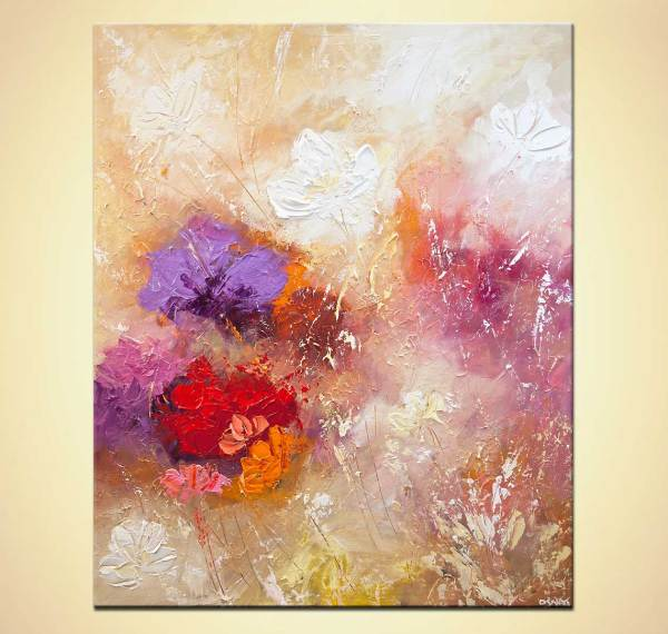 Modern Abstract Art Paintings Flowers