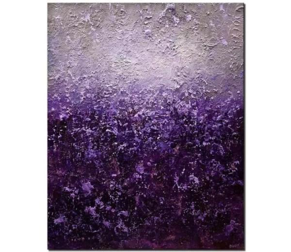 Painting - Purple Gray Abstract Heavy Texture Acrylic Modern Art #8605