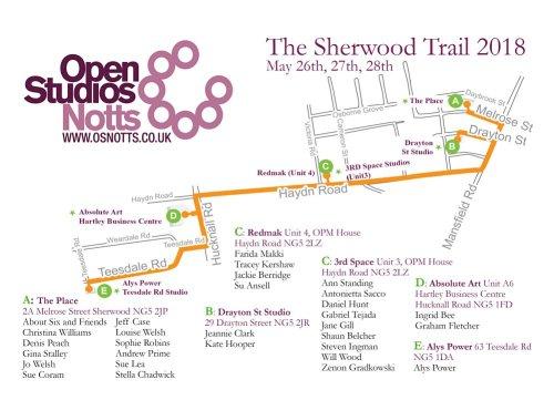 Sherwood Studios Trail map