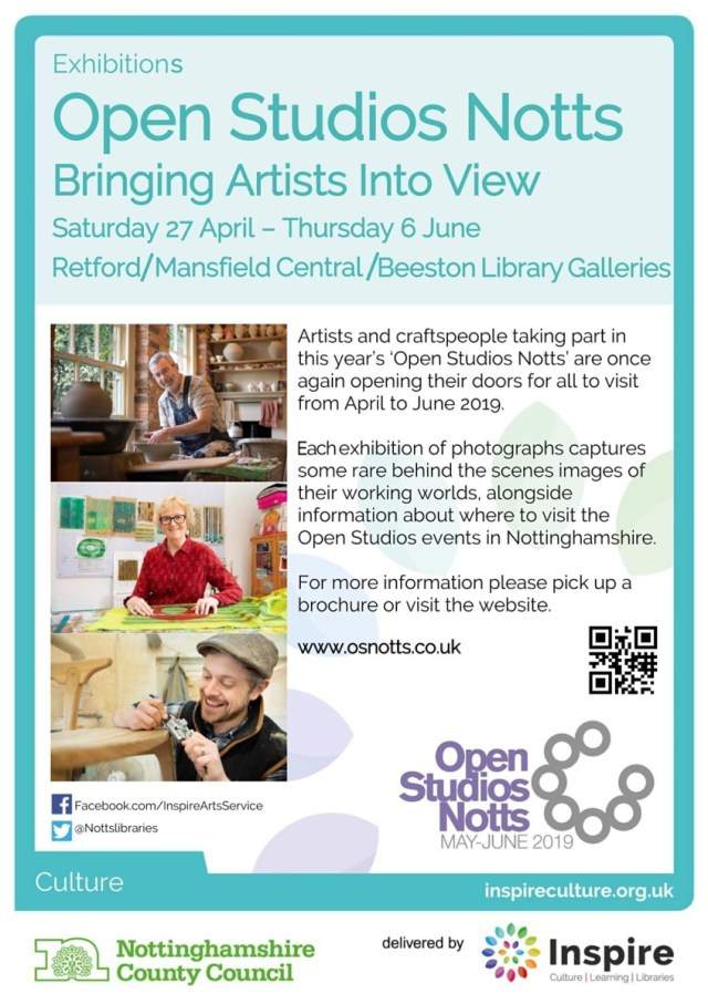 OSNotts 2019 exhibitions poster