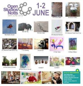 OSNotts artists photomontage 1-2 June