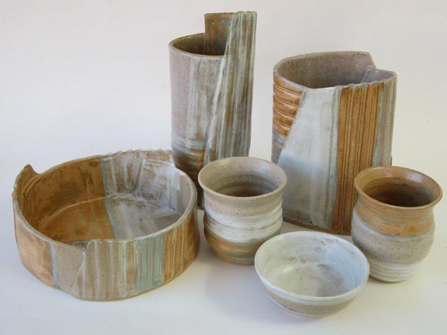 1 Sarah Burton - Burnt Orange vases and bowls