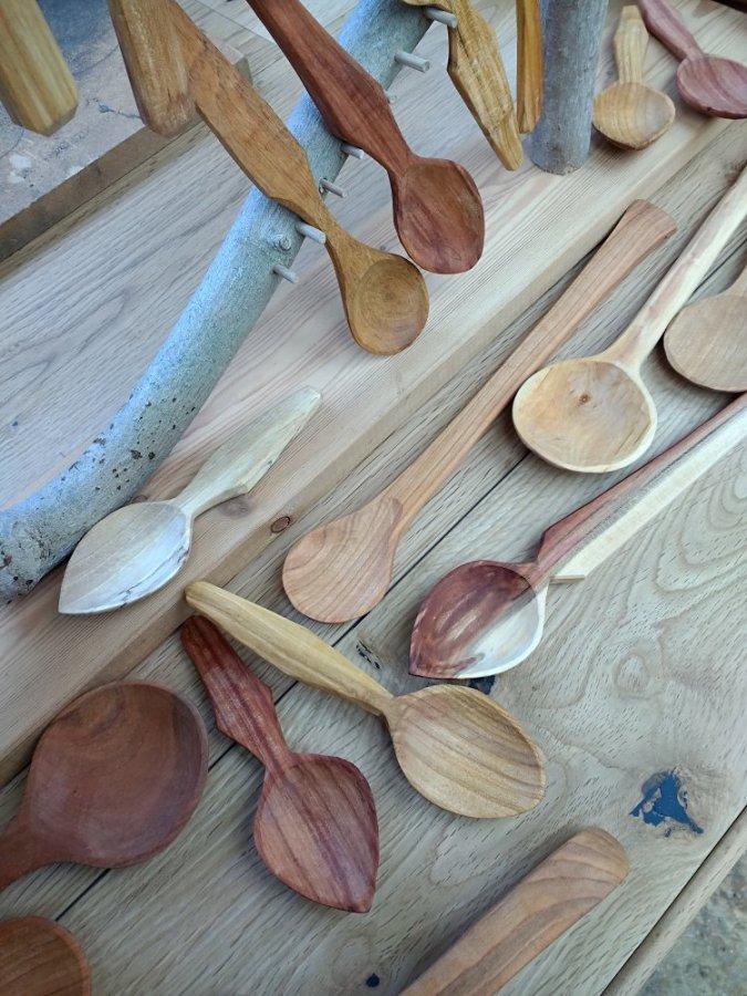 Display of spoons - Steve Hunt
