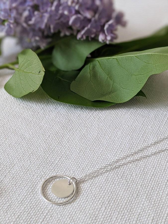 Lianne Hoult - Figure Jewellery - Disc + Circle Pendant