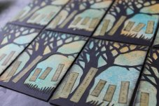 Sarah Manton, Poetry Tree Cards, Papercut by hand, 114 x 108cm, NFS