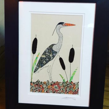 Wildgoose Designs - Sarah Sewell. Grey Heron - Sarah Sewell