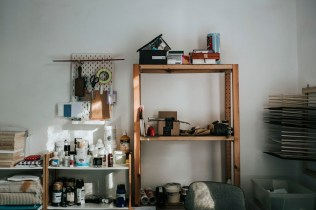 Gill Edwards - Studio shelves