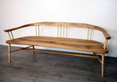 Griffin & Sinclair, Albany bench, elm and ash
