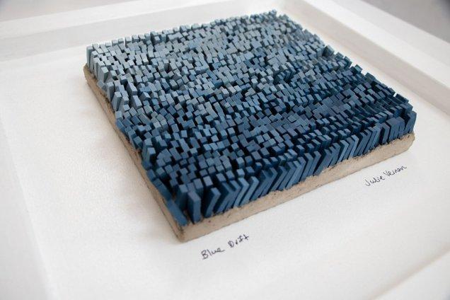 Julie Vernon Mosaics - Blue Drift interior wall art