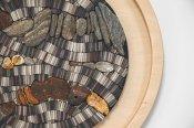 Julie Vernon Mosaics - Natural Rock Grey interior wall art detail