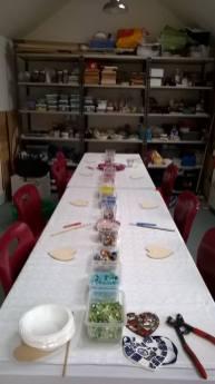 Julie Vernon - Workshop table
