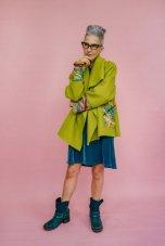 Megan Crook - Lime Wool Coat