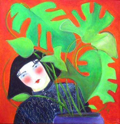 Nikki Mckay - girl-with-cheese-plant