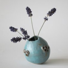 Sarah Burton - Tuquoise barnacle rocking vase