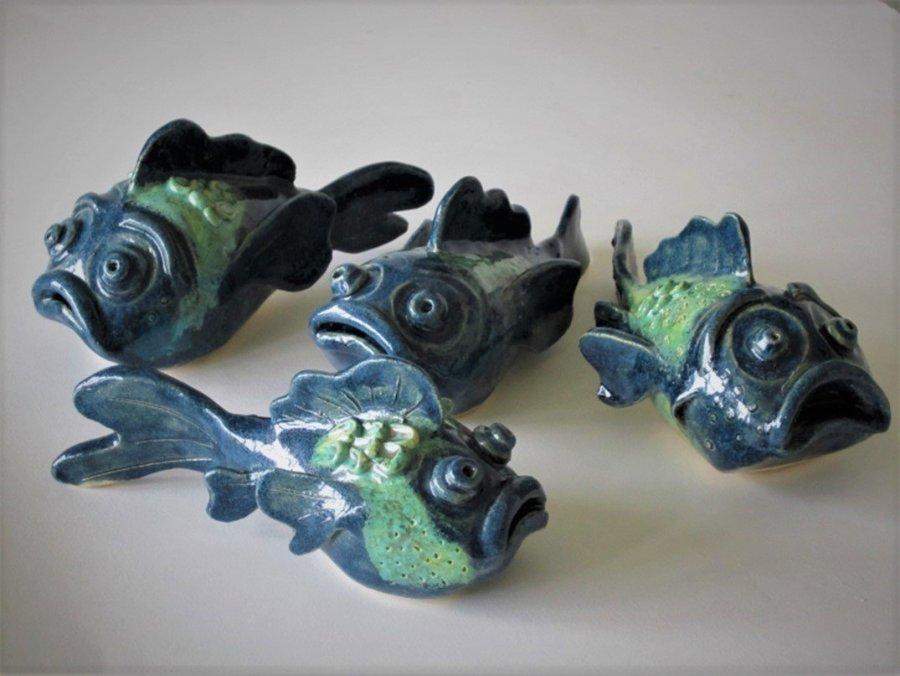 Sarah Burton - Turquoise ceramic fish