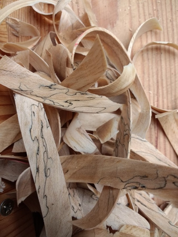 Steve Hunt - walnut shavings