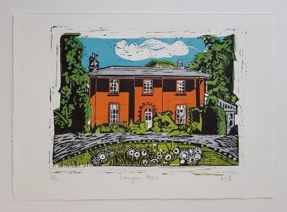Mandy Bray - Langar Hall, linocut, colour