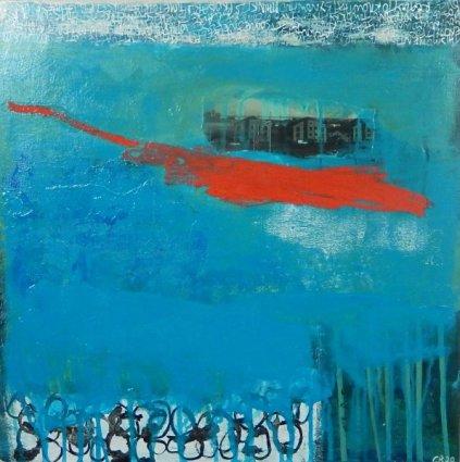 Corrina Rothwell, 'Deeper And Deeper', acrylic and mixed media, 40 x 40, £330
