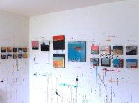 Corrina Rothwell paintings in studio