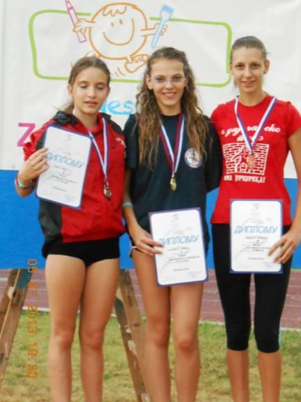 Drzavno prvenstvo Srbije za starije pionirke Senta 5.07.2013 (1998 i mladji)