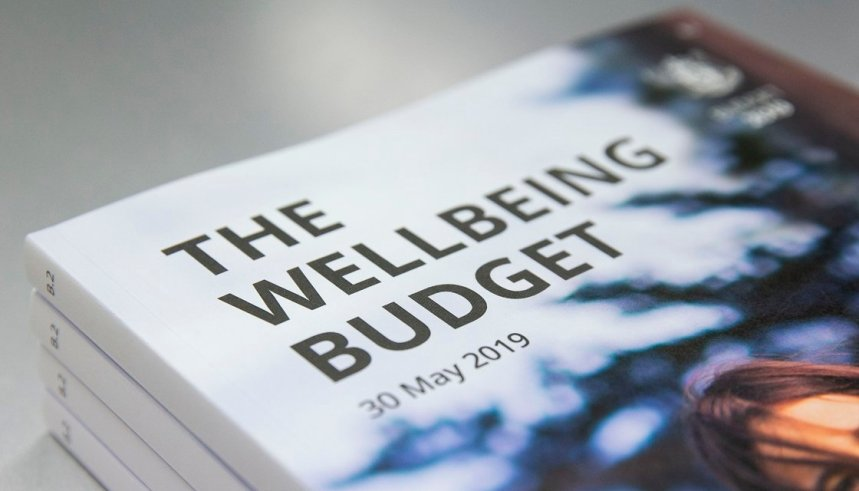 WELLINGTON, NEW ZEALAND - MAY 28: Copies of the 2019 Wellbeing Budget on display during a visit to Printlink on May 28, 2019 in Wellington, New Zealand. Budget 2019 will be delivered on Thursday, 30 May 2019. (Photo by Hagen Hopkins/Getty Images)