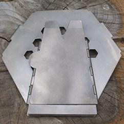 Titanium Kitchen Knives Backsplash Installation Vargo Hexagon Wood Stove Backpacking Camping ...