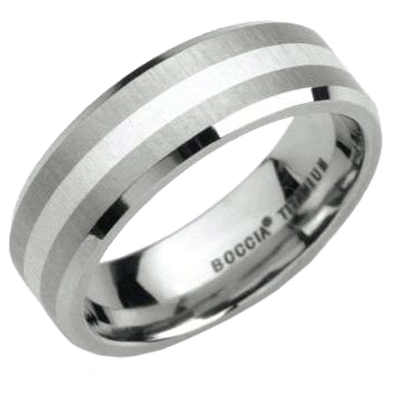 Boccia Ring 0106 02 Titan Silber Flach 7 Mm Breit