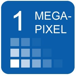 1 megapixel resolution