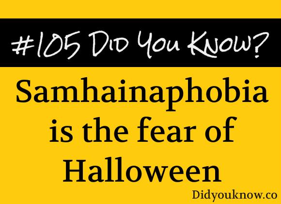 Sampainophobia Halloween fear