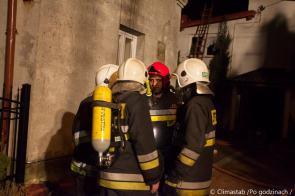 Pożar poddasza naul.Ożarowskiej wPiastowie