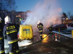 Pożar śmietnika ul. Wysockiego.