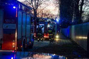 Pożar dawnego przedszkola przy ul. Harcerskiej