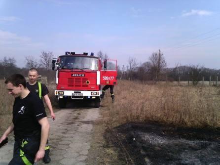 pożar trawy ul regulska wregułach zd1