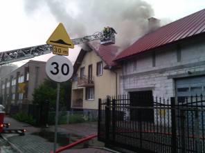 Pożar budynku - ul. Wieniawskiego