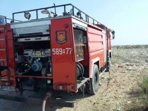 Pożar wysypiska - Pruszków, ul.Żbikowska