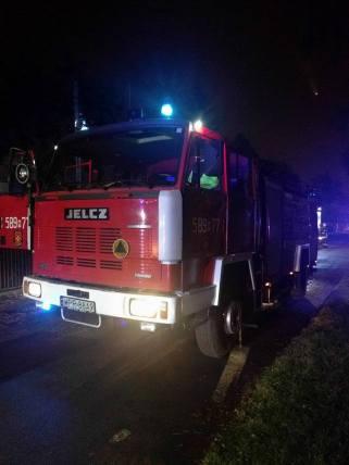 Pożar budynku mieszkalnego przy ulicy Słońskiego wPiastowie