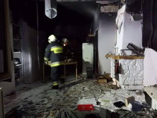 Pożar budynku mieszkalnego przy ulicy Słońskiego w Piastowie
