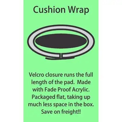 "Aero Cushion Wrap Rack Pad 30"" 4"