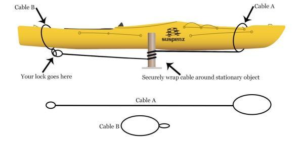 Suspenz Kayak Cable Lock 6