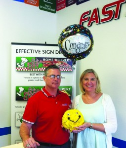 Eric Schnitzer and his wife, Geralyn, recently opened FASTSIGNS of Brandon.