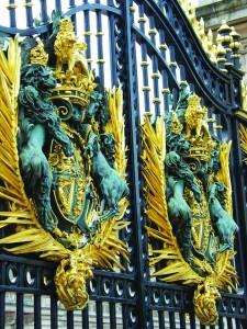 The gates to Buckingham Palace.