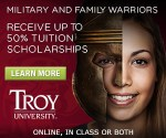 Troy University July web banner ad