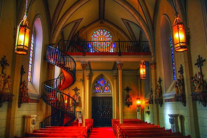 Faith Footprints The Loretto Chapel – Santa Fe New Mexico | The Staircase Of Loretto Chapel | Original | Light | Weird | Stairway | Magical