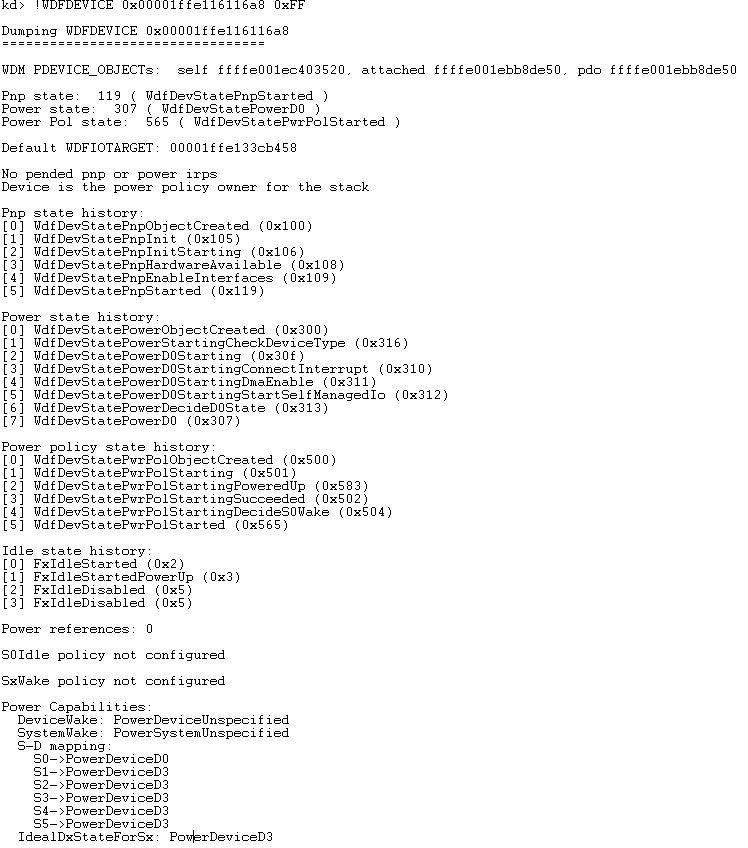 Figure 5 - Everything you always wanted to know about your WDFDEVICE