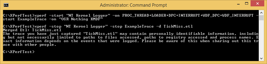 Figure 9 - Starting (and Stopping) Multiple ETW Providers