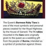 الملكة إليزابيث ارتدت الروبي لمنع الشر والمرض