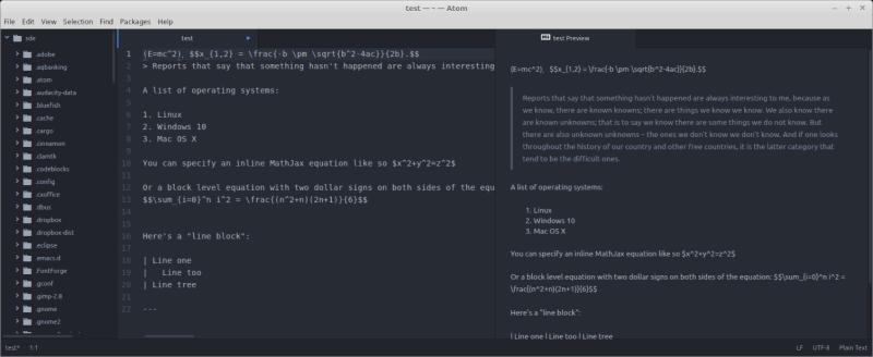Atom - cross-platform Markdown editor