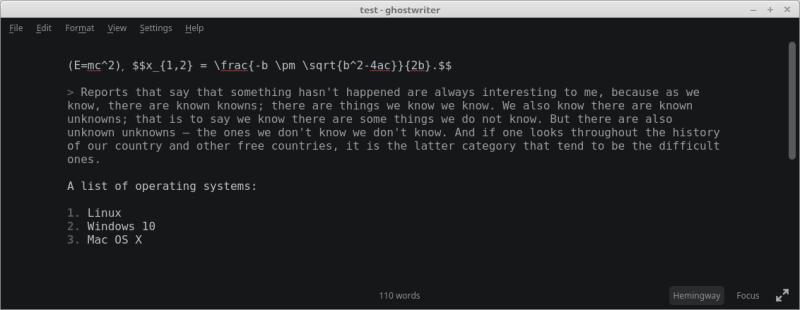 ghostwriter - cross-platform Markdown editor