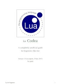 Lua for Beginners